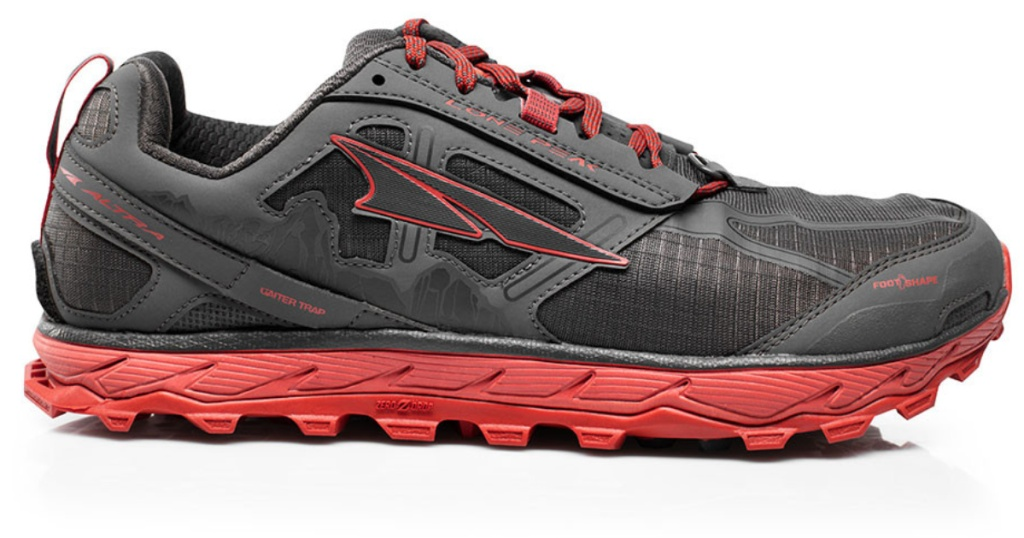 mens gray and orange altra sneakers