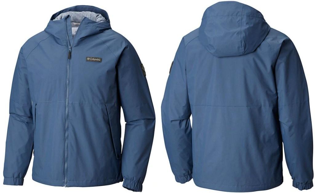 Columbia brand navy blue men's rain jacket
