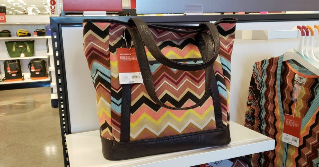 Missomi Tote on Target display shelf