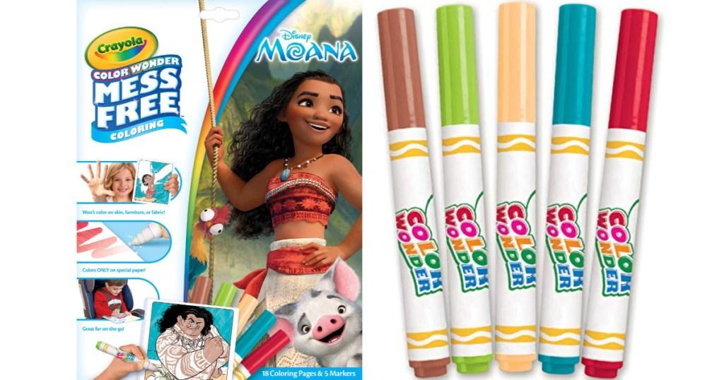 crayola color wonder moana themed coloring kit