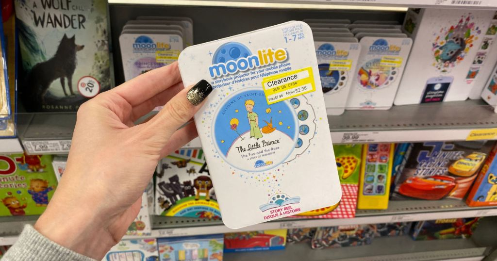hand holding up moonlite book