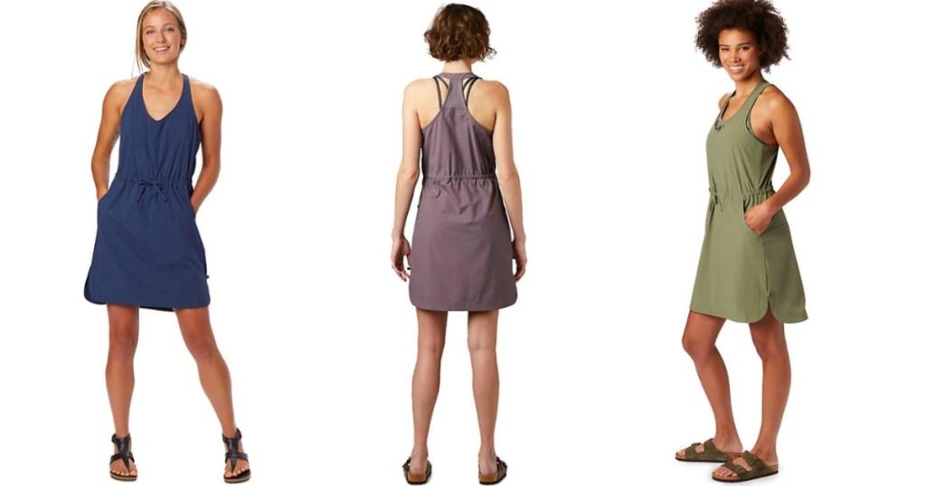 three ladies wearing Mountain hardware dresses