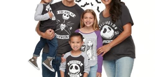 Matching Halloween Family Tees as Low as $5.39 Shipped for Kohl's Cardholders | Disney, Star Wars & More