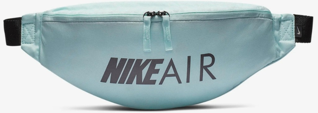 Nike brand fanny pack in teal color