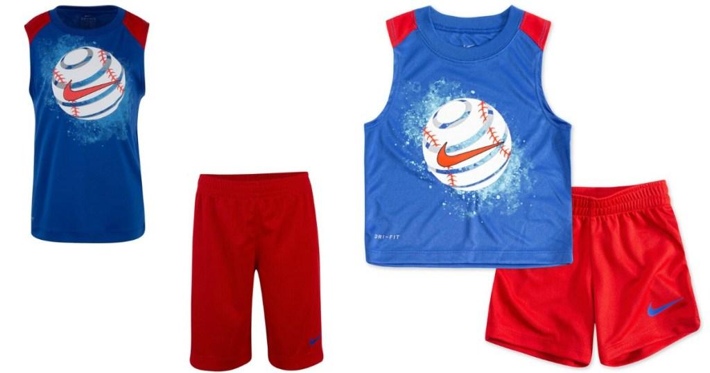 Nike boys baseball short sets