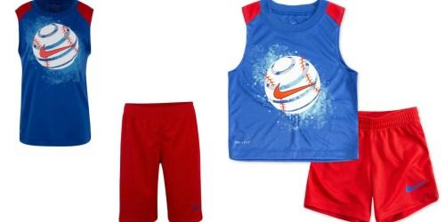 Up to 70% Off Nike Boys Shirt & Shorts Sets at Kohl's