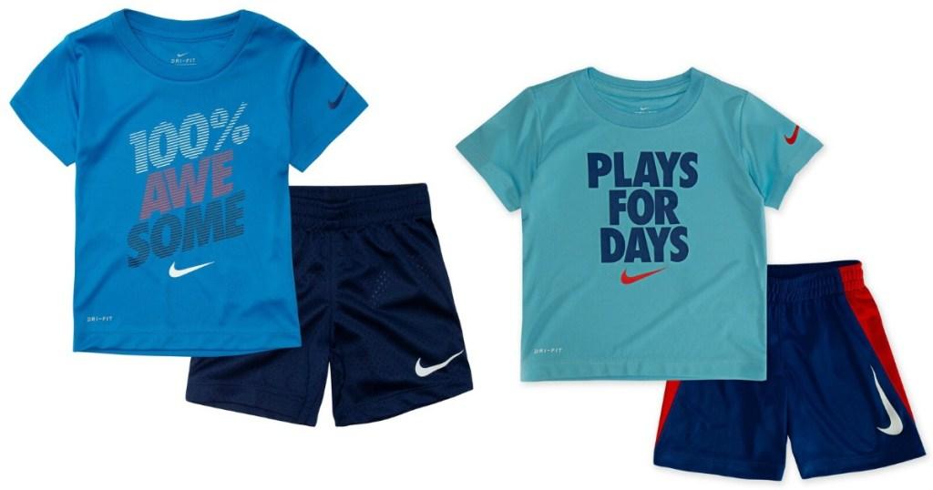 Nike boys short sets
