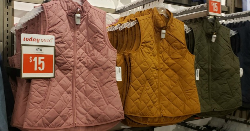 quilted Vests at Old Navy