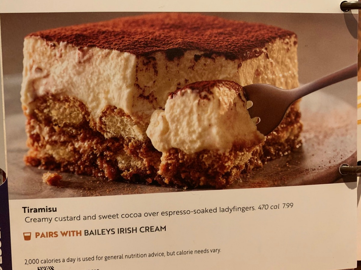 Tiramisu in Olive Garden Dessert Menu