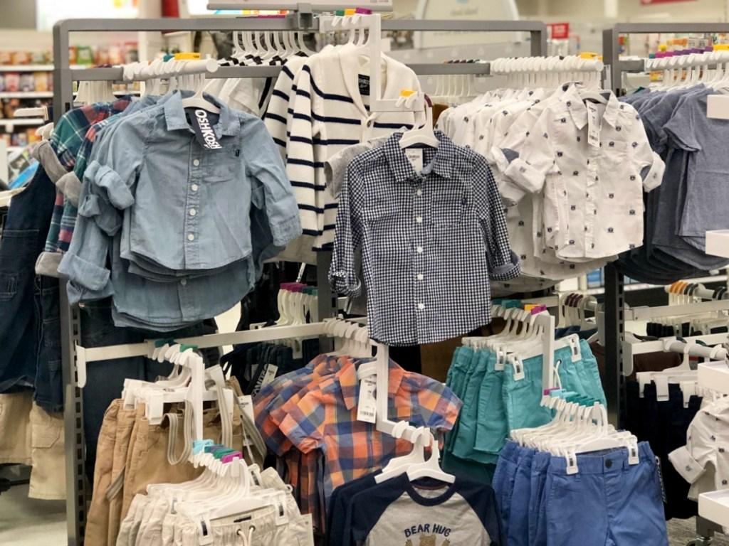 Osh Kosh Button Shirts on Target rack