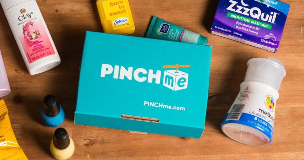 PINCHMe Samplebox on table