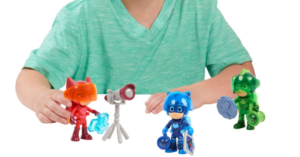 boy playing with PJ Masks Super Moon Adventure Figure Set