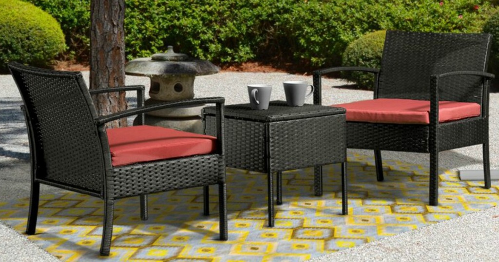 3 Piece Rattan Patio Set W Cushions Only 131 99 Shipped At Wayfair Regularly 290 Hip2save