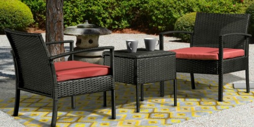 3-Piece Rattan Patio Set w/ Cushions Only $131.99 Shipped at Wayfair (Regularly $290)