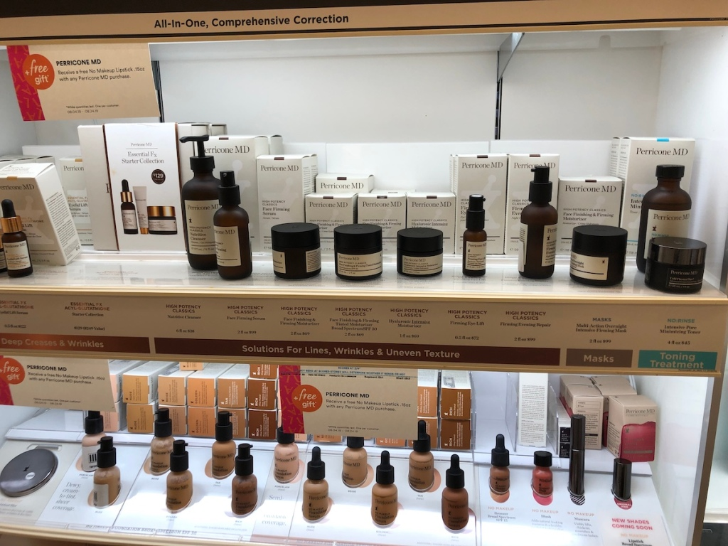 Perricone MD Products on shelf at ulta