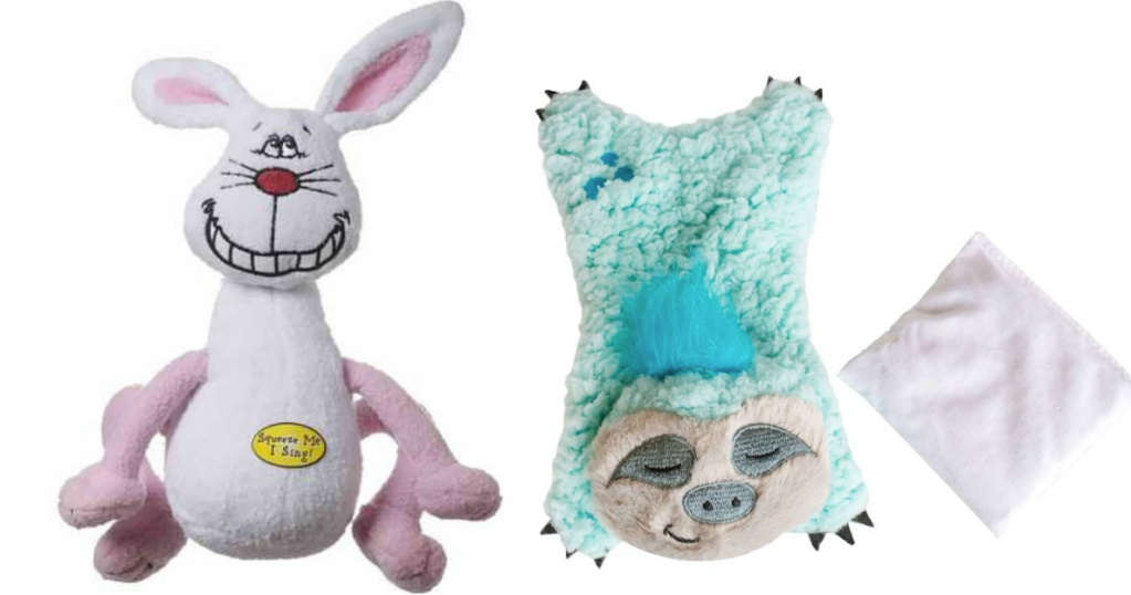 Multipet Deedle Dudes Rabbit Singing Dog Toy Only $1 57 at