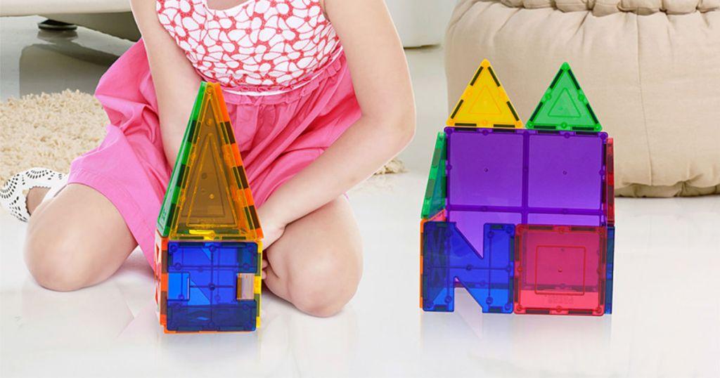 Picasso Tiles 33-Piece 3-D Magnetic Building Block Set