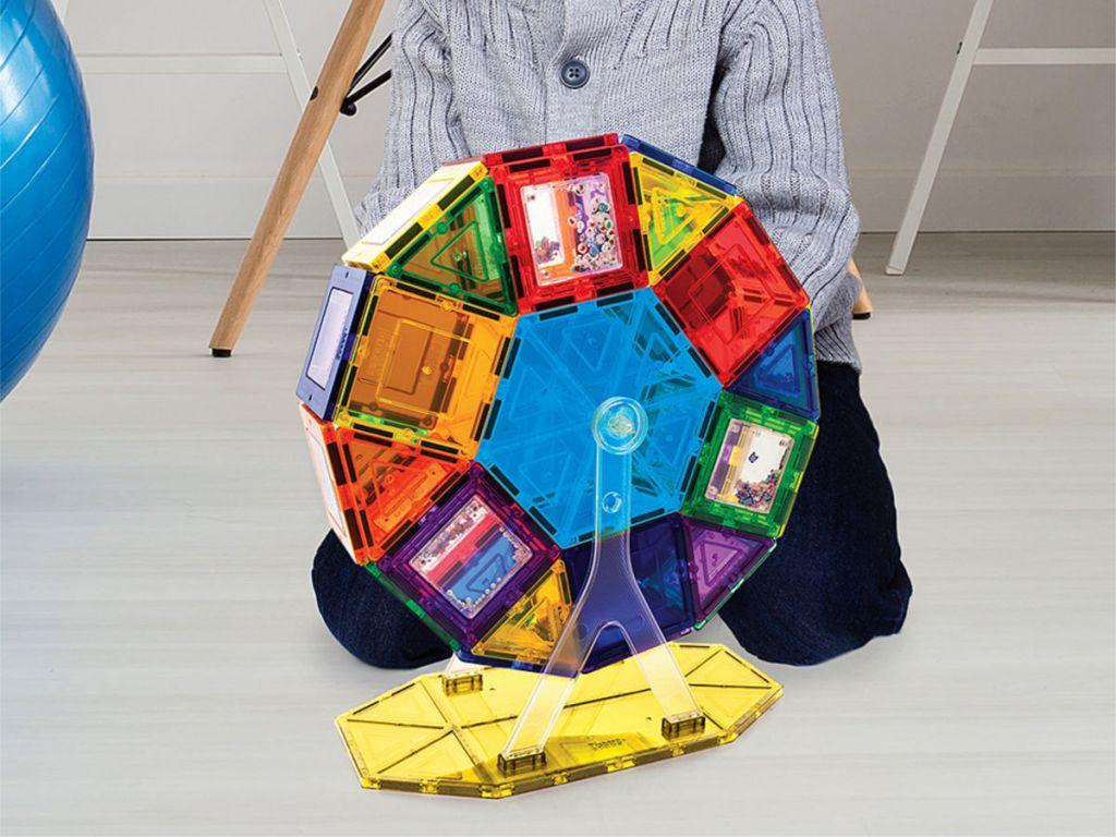 Picasso Tiles 3D Magnetic Building Blocks Ferris Wheel Set