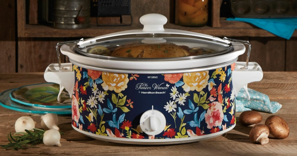 Pioneer Woman Slow Cooker in fiona floral pattern