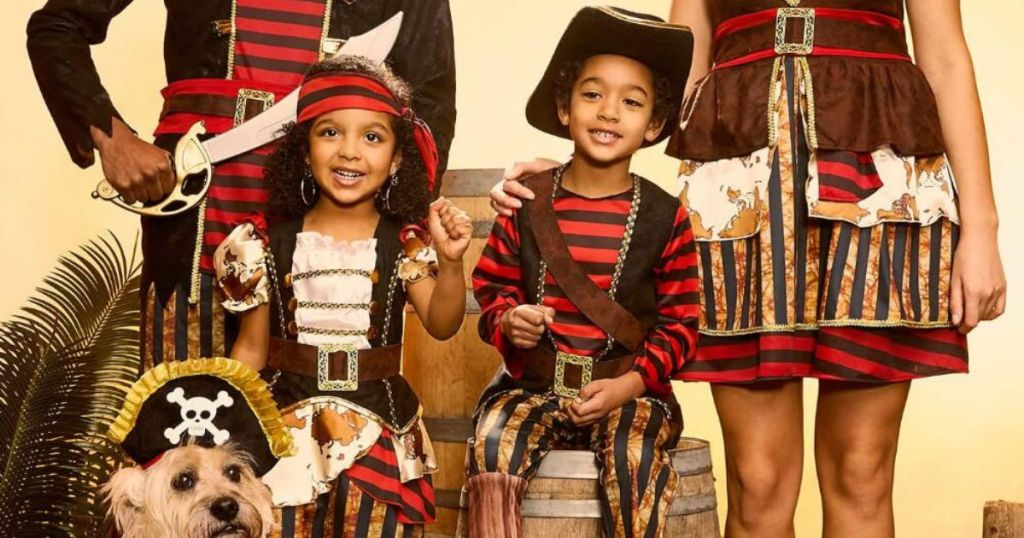 Pirate family costumes