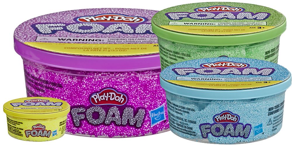 containers of Play-Doh Foam