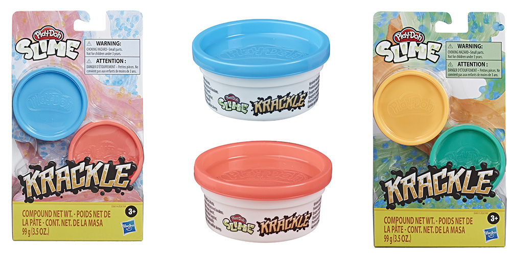 containers of new Play-Doh Krackle