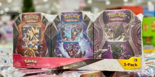 THREE Pokémon Collector Tins Just $25.99 at Costco (Only $8.66 Each) | Includes 12 Booster Packs + Bonus Cards