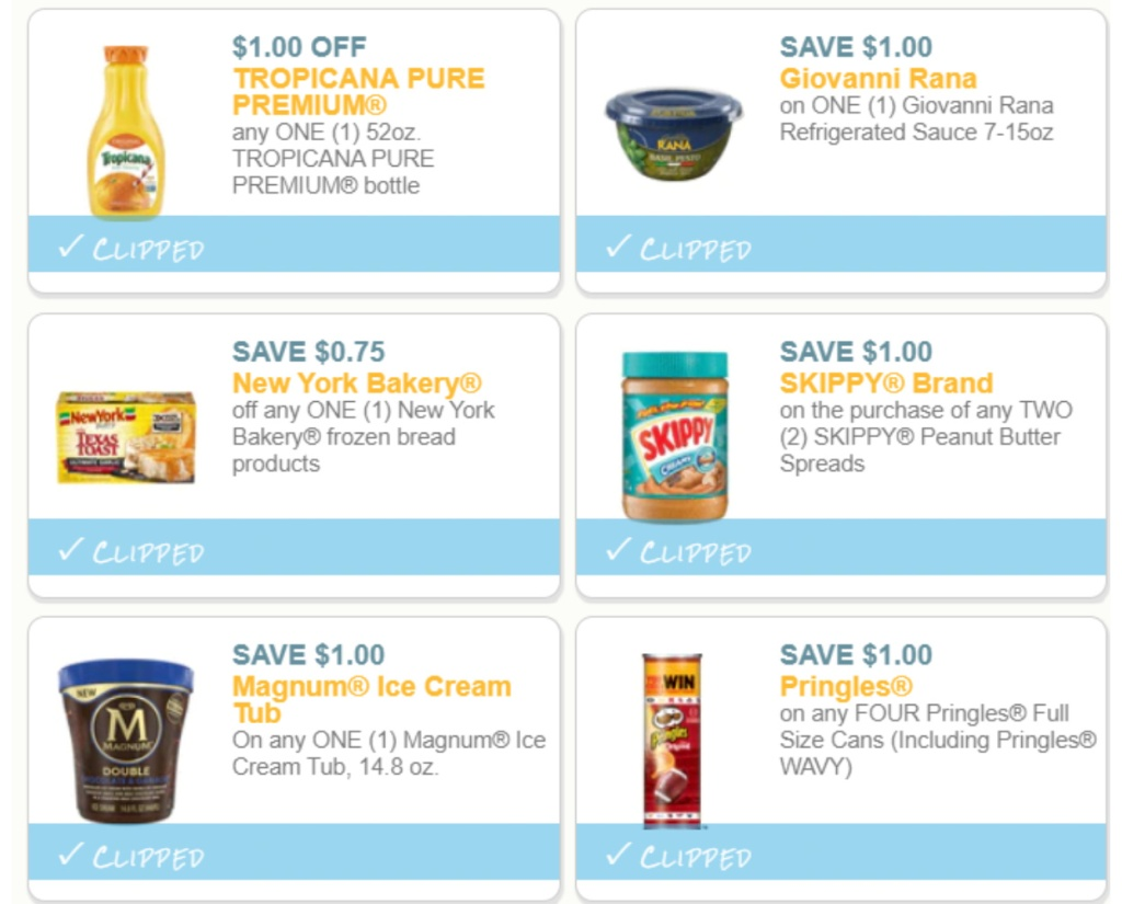 6 popular printable coupons