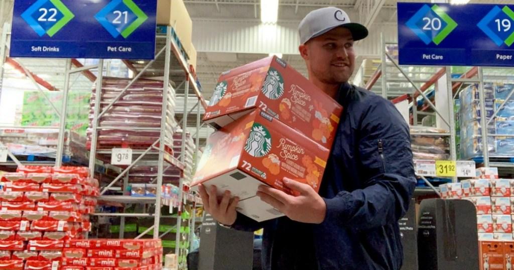 Stetson carrying Pumpkin Spice K-Cups