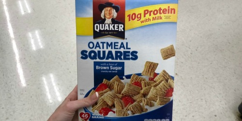 THREE Quaker Oatmeal Squares Cereal Boxes Only $5.67 Shipped at Amazon | Just $1.89 Each