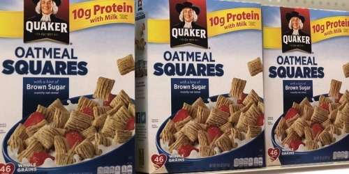 THREE Quaker Oatmeal Squares Cereal Boxes Only $5.67 Shipped on Amazon