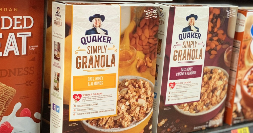 Quaker Simply Cereal on Amazon