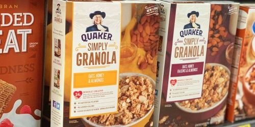 Quaker Simply Granola Oats Cereal 2-Count Pack Only $6 Shipped on Amazon | $3 Per Box
