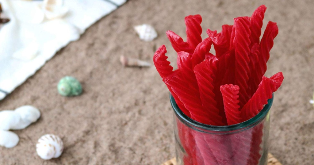 Red Vines in glass jar