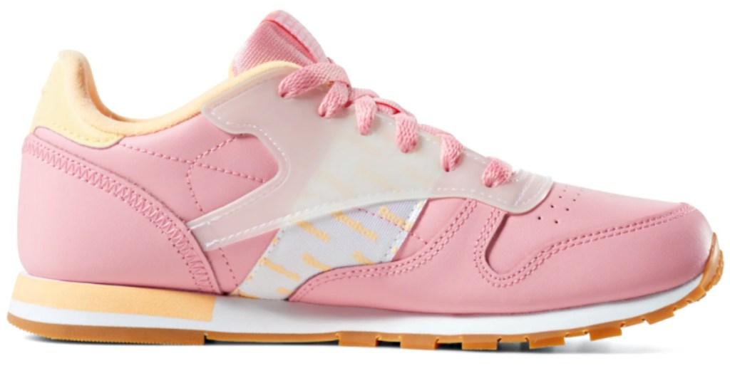 kids pink reebok sneaker