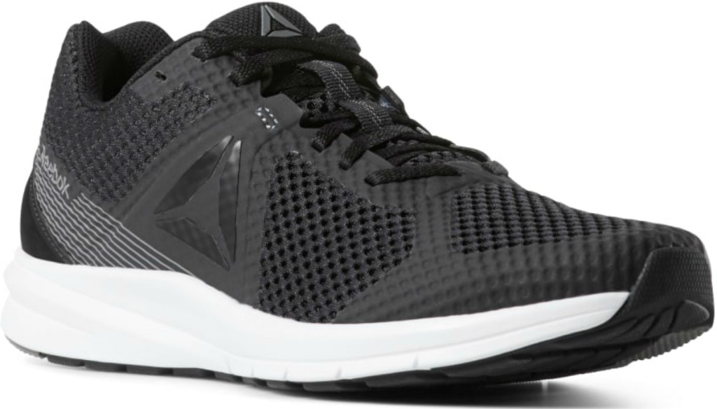 Reebok brand shoe in black and white