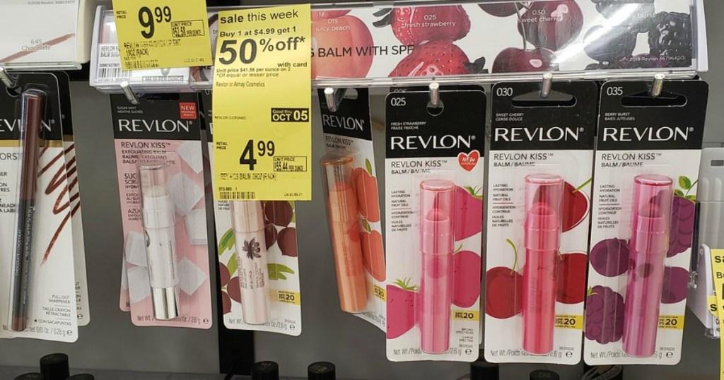Revlon Kiss Balm Lipsticks on Walgreens peg