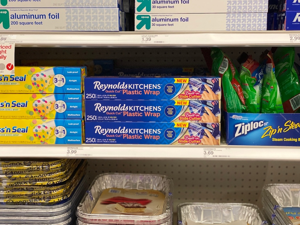 Reynolds Plastic Wrap on shelf at target