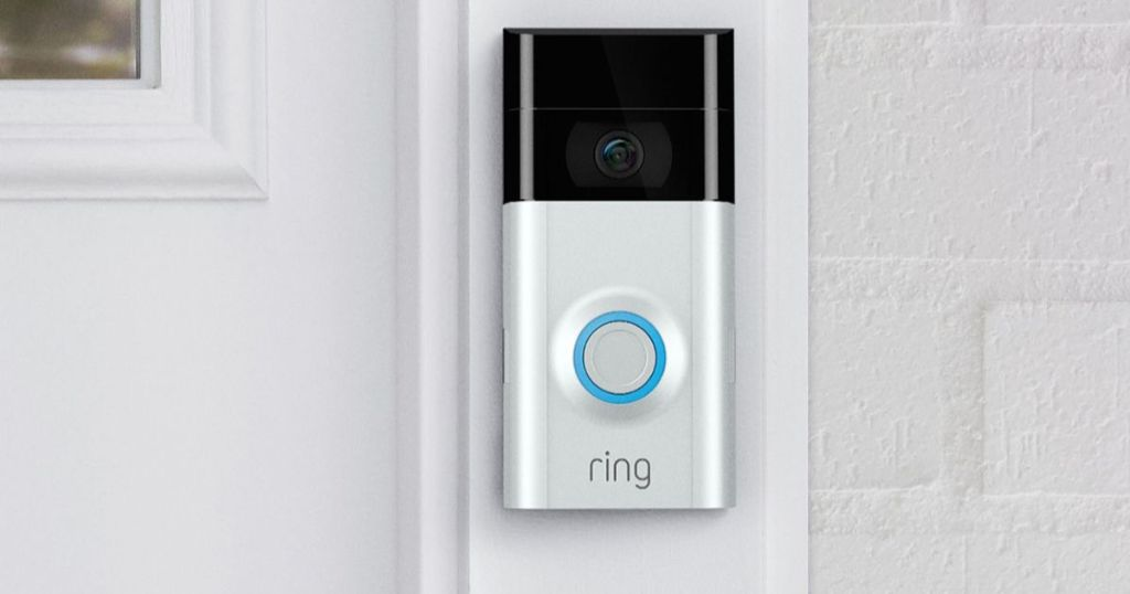 ring doorbell outside on door