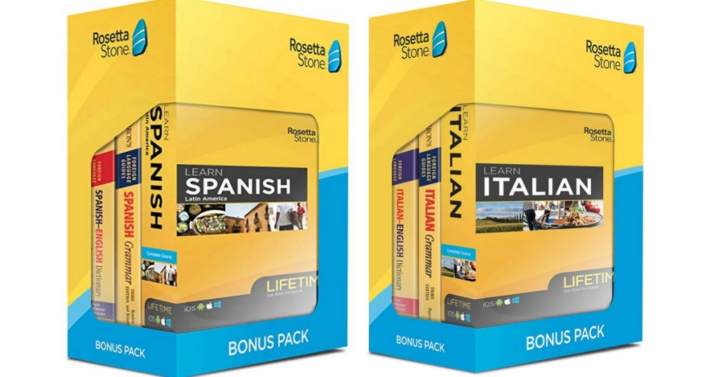 2 Boxes of Rosetta Stone Bonus Pack Bundles