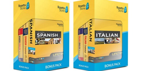 $160 Off Rosetta Stone Bonus Pack Bundles on Amazon Today Only | Includes Lifetime Access
