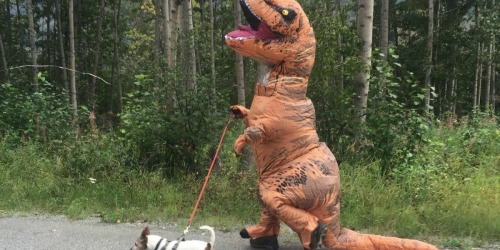 Jurassic World Adult Inflatable T-Rex Costume Just $48.99 Shipped on Amazon (Regularly $90)