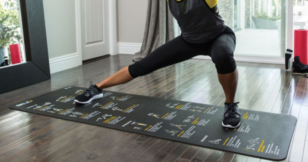 woman exercising on SKLZ yoga mat