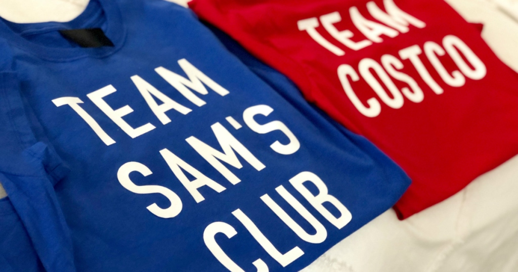 Sam's Club and Costco shirts