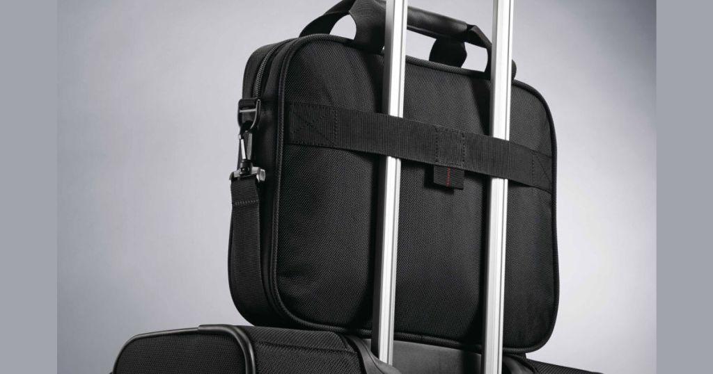 """Samsonite Xenon 3.0 Laptop Shuttle 13"""" on luggage"""