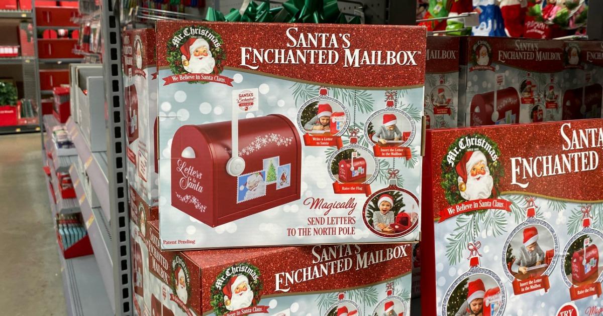Santa's Enchanted Mailbox on display in Walmart