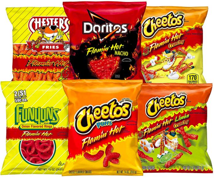 Frito Lay Hot Cheetos, Doritos and more