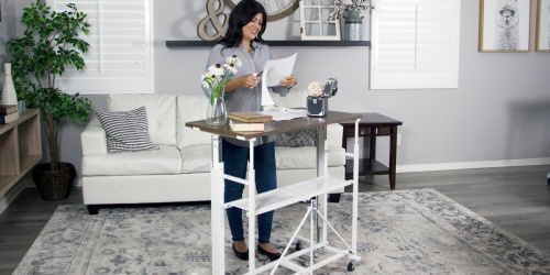 Sit-Stand Adjustable Fold-Away Workstation $94.98 Shipped (Regularly $250)