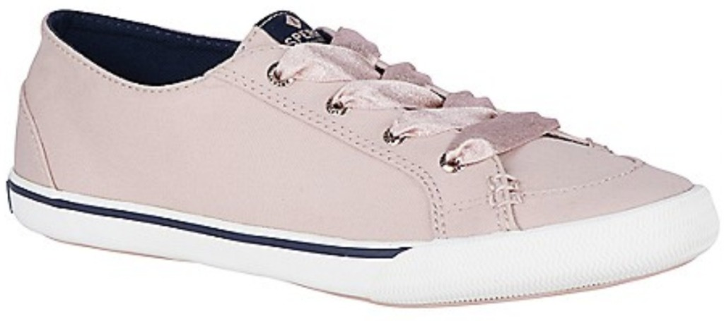 Women's Rose colored sneakers from Sperry
