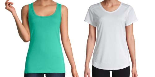 Women's T-Shirts & Tank Tops Only $3 Each at JCPenney